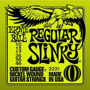 Žice za Električnu Gitaru Ernie Ball REGULAR SLINKY 10-46