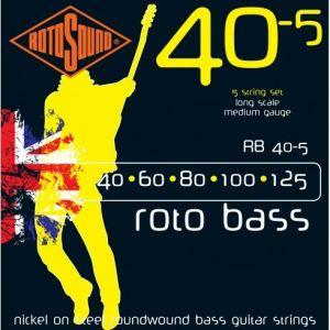 Žice za bas gitaru Rotosound 5 Roto Bass 40-125